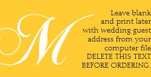wedding guest return address labels zazzle