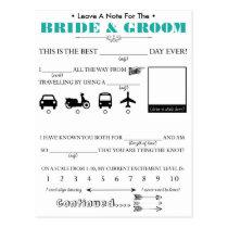 Wedding Guest Advice Card