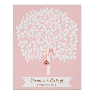 Wedding Guest Book Alternative Tree, 155 leaves