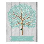 Wedding Guest Book Alternative Tree, 155 leaves Poster
