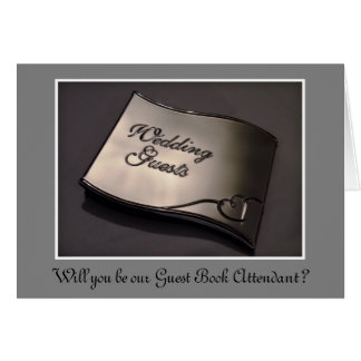 Wedding Guest Book Attendant custom text Card