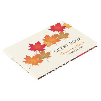 Wedding Guest Book | Autumn Leaves