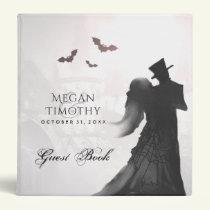 Wedding Guest Book Binder - Halloween Lovers