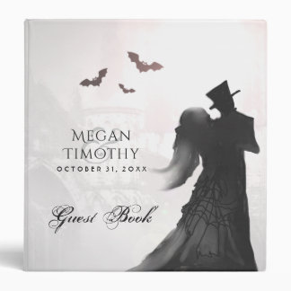 Wedding Guest Book Binder - Halloween Lovers