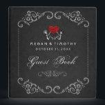 "Wedding Guest Book Binder - Skeletons with Heart<br><div class=""desc"">Wedding Guest Book Binder - Skeletons with Heart  Art &amp; Design by Julie Alvarez</div>"