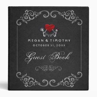 Wedding Guest Book Binder - Skeletons with Heart