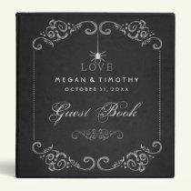 Wedding Guest Book Binder - Spider Gothic LOVE