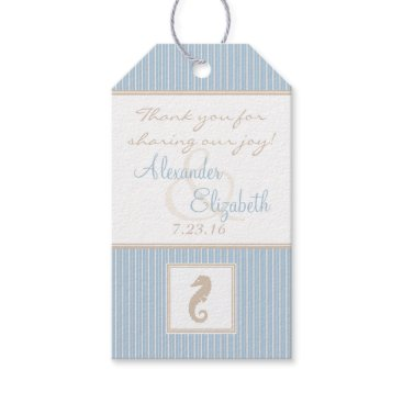 Beach Themed Wedding Guest Favor Thank You Seahorse Gift Tags