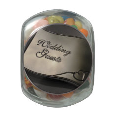Wedding Guest Jelly Belly Candy Jars at Zazzle