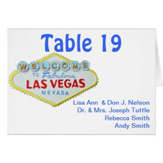 Wedding Guest Seating and Table Numbers Greeting Card