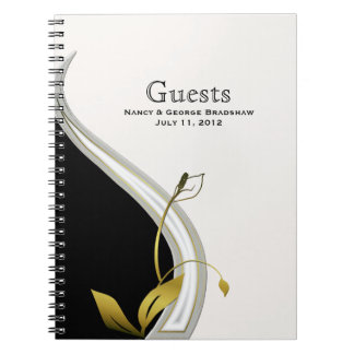 Wedding Guest Sign In Notebook