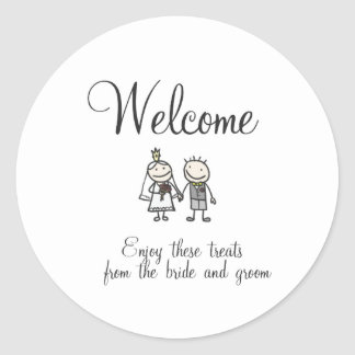Wedding Guest Welcome Sticker