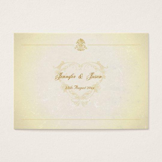 Wedding Guestbook Cards Vintage Parchment Paper