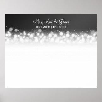 Wedding Guestbook  Magic Sparkle Black