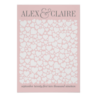 Wedding Guestbook Poster - CHOOSE YOUR COLOR 20x28