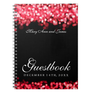Wedding Guestbook Red Lights Notebook