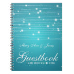 Wedding Guestbook Sparkling Lines Turquoise Notebooks