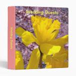 Wedding Guests binder book Yellow Daffodil Blossom