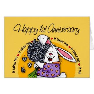 Wedding - Happy 1st Anniversary Card