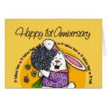 Wedding - Happy 1st Anniversary Cards