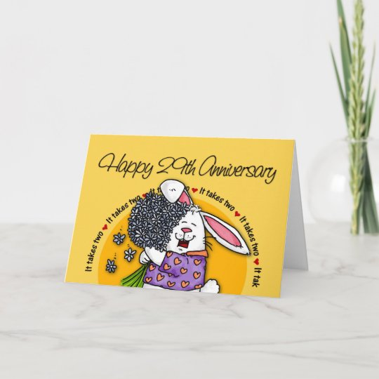 29 Year Wedding Anniversary Gift: Wedding - Happy 29th Anniversary Card