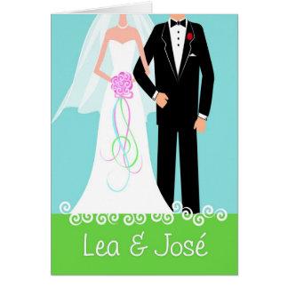 Wedding-HappyCouple-Lea-Jose-3a Tarjeta De Felicitación
