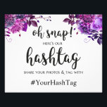 "Wedding hashtag sign. Purple instagram poster<br><div class=""desc"">Matching items - https://goo.gl/4PZov8 ♥ Contact me,  please,  if you need additional items.</div>"