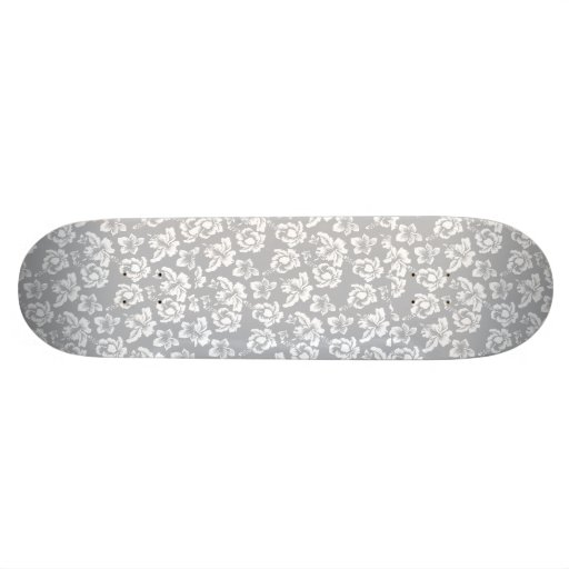 Wedding Hawaiian White Flower Skateboard Deck