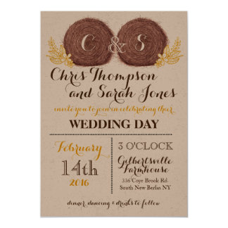 Wedding Hay Bales WEDDING INVITATION