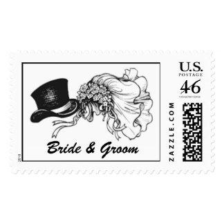 Wedding Headgear 1 CUSTOMIZE Stamps