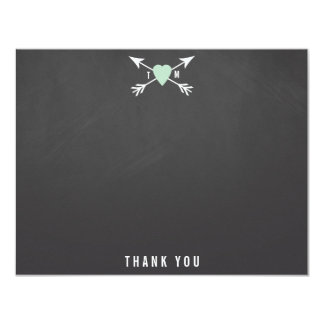 Wedding Heart + Arrows Thank You Note Cards