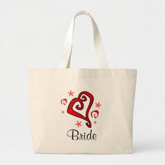 Wedding Heart Tote Bags