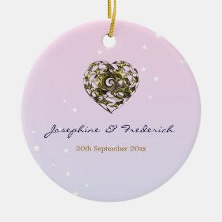 Wedding Heart Ceramic Ornament
