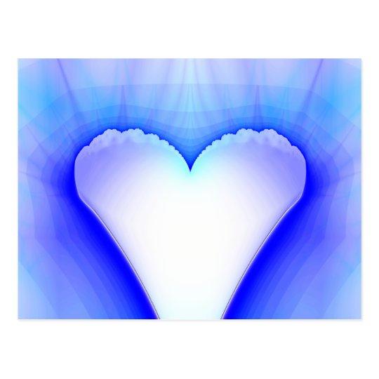 Wedding Heart Fractal Postcard