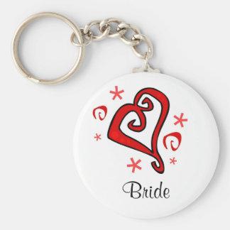 Wedding Heart Keychain