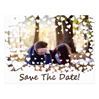 Wedding Heart Lace Save the Date Postcard