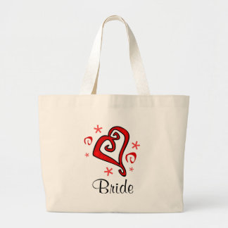 Wedding Heart Large Tote Bag