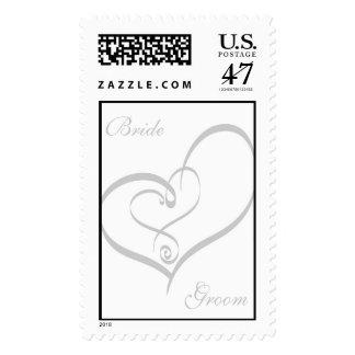 Wedding Heart Postage Stamp
