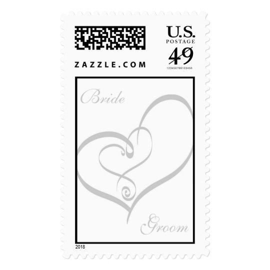 Wedding Heart Postage Stamp