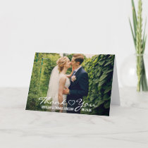Wedding Heart Thank You Photo Fold Card W