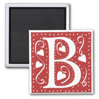 Wedding Hearts Letter B Magnet