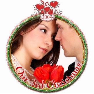 Wedding Hearts Our 3rd Christmas Cutout