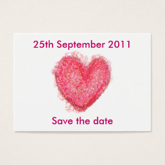 Wedding hearts ... Save the date Business Card