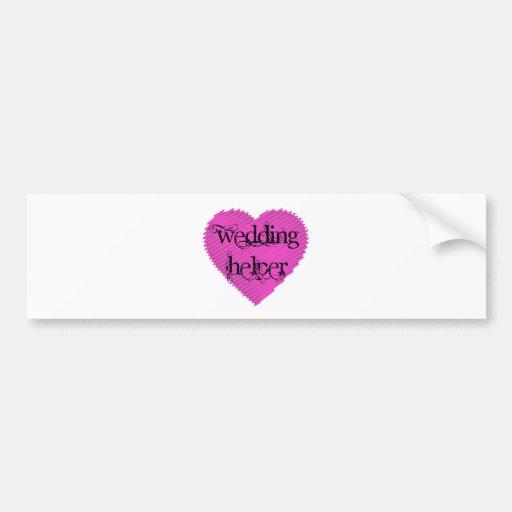 Wedding Helper Bumper Sticker
