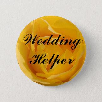 Wedding Helper Pinback Button