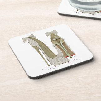 Wedding High Heels Art Beverage Coasters