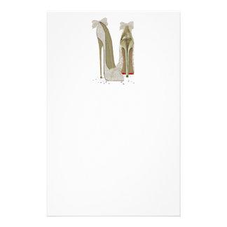 Wedding High Heels Art Customized Stationery