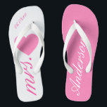 "Wedding Honeymoon Bridal Pink Flip Flops<br><div class=""desc"">Wedding Honeymoon Bridal Pink Flip Flop.</div>"