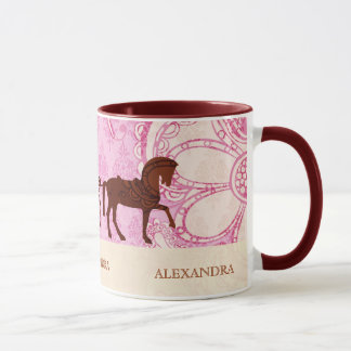 Wedding Horse & Carriage - Custom Text Mug