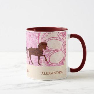 Wedding Horse & Carriage - Custom Text Mug